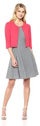 Robbie Bee Women's 2 Pc Fit and Flare Jacket Dress