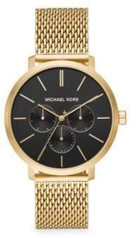 Michael Kors Blake Stainless Steel Mesh Bracelet Chronograph Watch - Gold