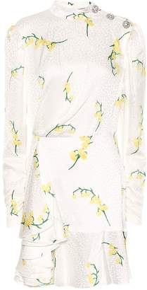 Alessandra Rich Floral silk jacquard minidress