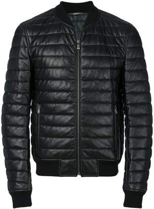 Dolce & Gabbana leather padded jacket