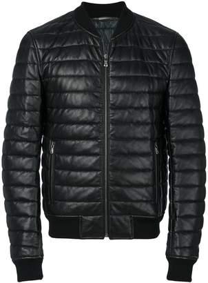 Dolce & Gabbana leather padded jacket