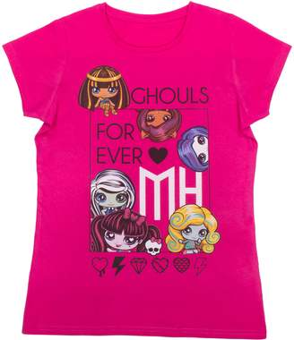 Monster High Girls Ghouls Forever Short Sleeve T-Shirt