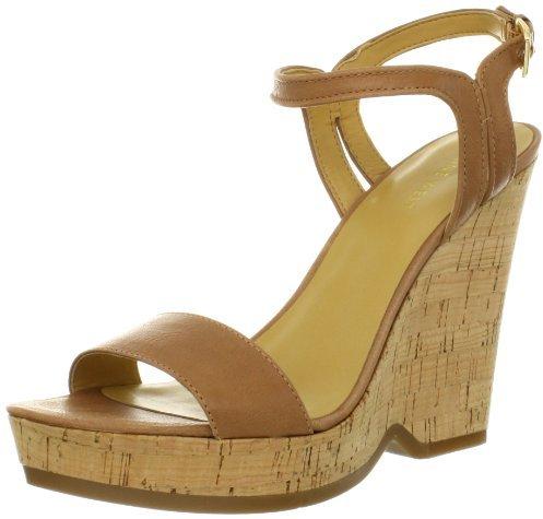 Nine West Women's Trickster Leather Wedge Sandal