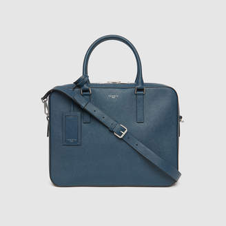 Sandro Small Saffiano leather briefcase