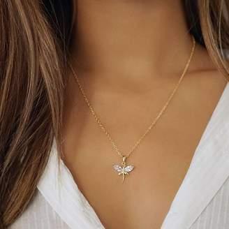 Nikita By Niki ® Gold Dragonfly Rhinestone Necklace