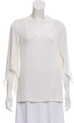 Milly Silk Tulip Sleeve Top