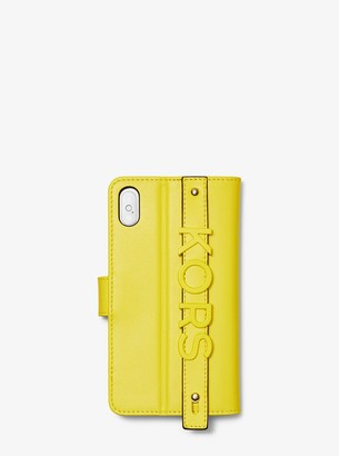 e1f5db814db8 MICHAEL Michael Kors Embellished Leather Folio Case For iPhone X Plus