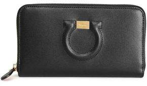 Salvatore Ferragamo Embossed Leather Continental Wallet