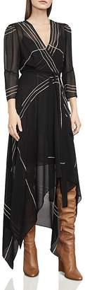 BCBGMAXAZRIA Samantha Printed Wrap Dress