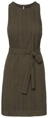 Banana Republic Petite Eyelet Shift Dress with Tie at Waist