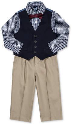 Nautica (ノーティカ) - Nautica Baby Boys 4-Pc. Plaid Bow Tie, Vest, Shirt & Pants Set