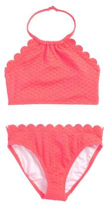 Kate Spade scalloped two-piece swimsuit