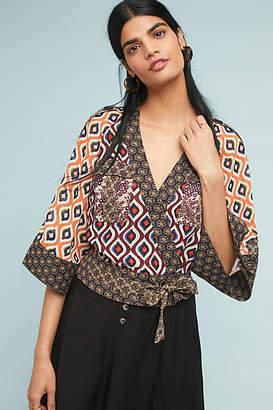 Byron Lars Geometric Kimono Top