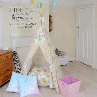 Lulu Teepees by & Weasel Geo Yellow And Pink Triangle Teepee Tent