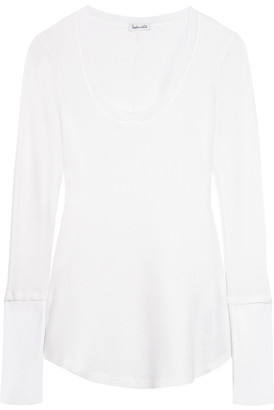 Splendid - Nordic Waffle-knit Stretch Supima Cotton And Micro Modal-blend Top - Off-white $105 thestylecure.com