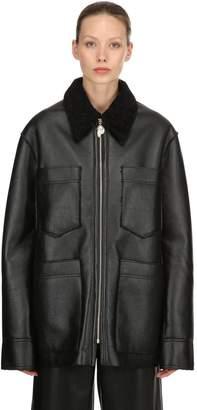 Nanushka Oversized Faux Shearling Jacket