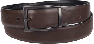 Weatherproof Men's Dress Reversible Belt with Rotated Buckle, Navy Khaki/Silver Buckle