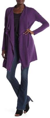 Fly London GRIFFEN CASHMERE Frayed Trim Away Cashmere Cardigan