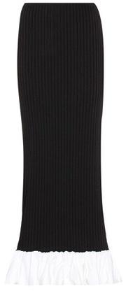 Ellery Ruffle-trimmed jersey skirt