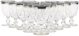 Double Silver-Banded Water Goblets