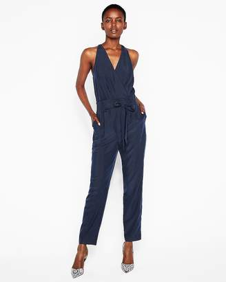 Express Belted Surplice Jumpsuit