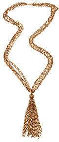Andrea Valentini Vintage Copper Tassel Pendant Necklace
