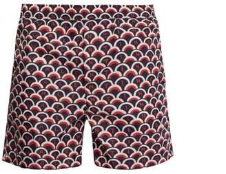 Valentino Scale Logo Print Swim Shorts - Mens - Navy Multi