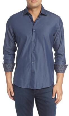 Men's Stone Rose Slim Fit Diamond Jacquard Sport Shirt $125 thestylecure.com