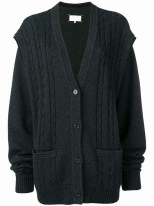 Maison Margiela cable knit oversized cardigan