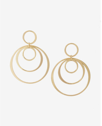 Express Multi Circle Drop Earrings $24.90 thestylecure.com