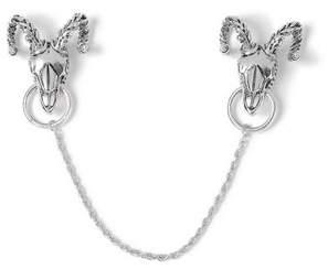 Topman Mens Silver Ram Collar Tips*