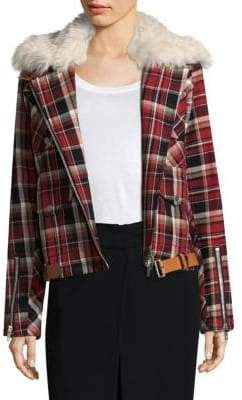 Rag & Bone Etiene Shearling-Trimmed Plaid Jacket