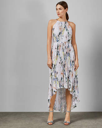 Ted Baker VALETIA Elegant pleated dip hem dress