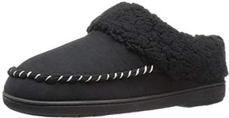 Dearfoams Men's Clog with Whipstitch and MF