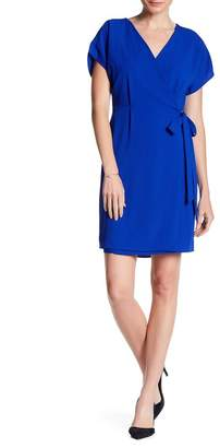 Bobeau Crepe Wrap Dress