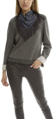 Derek Lam 10 Crosby Sweatshirt with Detachable Scarf