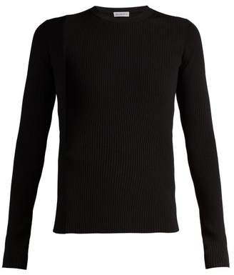 Balenciaga Ribbed Knit Top - Womens - Black