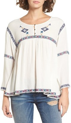 Roxy June Sky Peasant Top $54.50 thestylecure.com