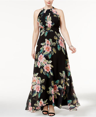 INC International Concepts Plus Size Floral-Print Maxi Dress, Only at Macy's $169.50 thestylecure.com