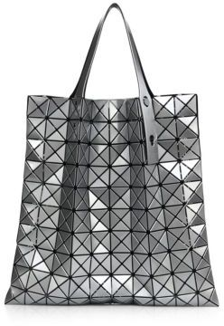 Bao Bao Issey Miyake Prism Basic Metallic Faux Leather Tote $595 thestylecure.com