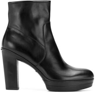 Santoni classic platform high boots