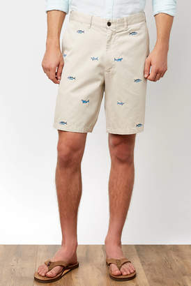 Castaway Cisco Shark Embroidered Short