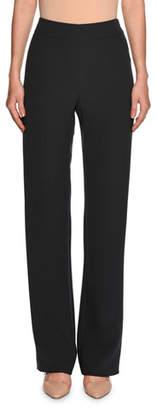 Giorgio Armani High-Waist Wide-Leg Pants, Dark Gray