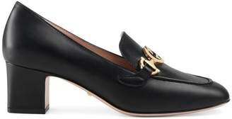 Gucci Zumi leather mid-heel loafer