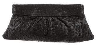 Lauren Merkin Woven Leather Clutch