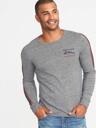 "Old Navy ""Head For the Hills"" Sleeve-Stripe Graphic Tee for Men"