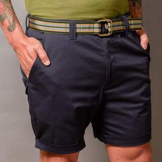 Blade + Blue Navy Blue Cotton Stretch Twill Shorts
