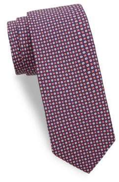 Saks Fifth Avenue Tonal Floral Silk Tie