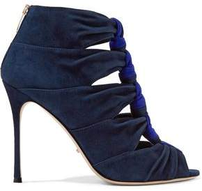 Sergio Rossi Knotted Suede Sandals