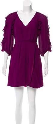 Tibi Silk Ruffled Dress